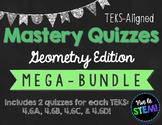 Geometry TEKS Mastery Quiz Computation BUNDLE! {TEKS 4.6A,