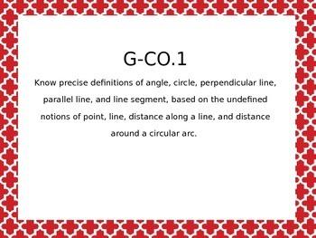 Geometry Common Core Standards