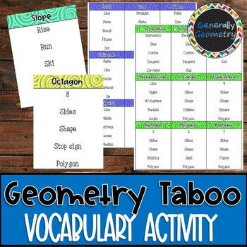 Geometry Taboo: A Vocabulary Review Game