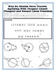 Circles - Geometry Tangent and Secant Lines in Circles Riddle Worksheet
