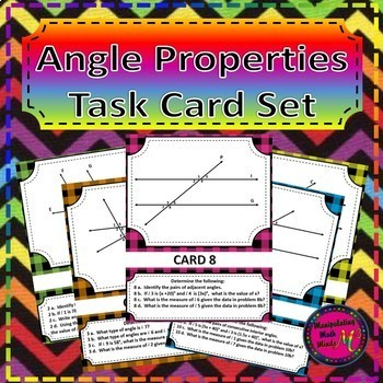 Geometry Task Card BUNDLE - Triangles, transversals, and transformations
