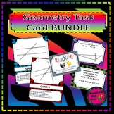 Geometry Task Card BUNDLE - Triangles, transversals, and t