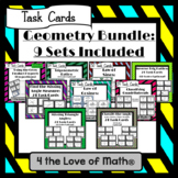 Geometry Task Card Bundle: 9 Sets Included!
