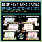 Geometry Task Card Bundle: Lines, Angles, Symmetry, and Mo