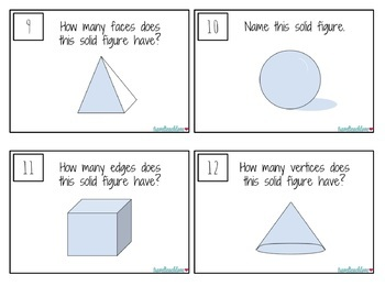 Geometry Task Card Bundle! Plane Shapes and Solid Shapes