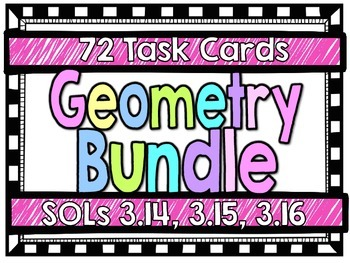 Geometry Task Card Bundle-SOLs 3.14, 3.15, 3.16