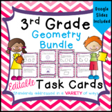 Geometry Task Cards for Third Grade Math Common Core - 3.G.1 - 3.G.2 - Distance