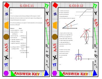 Geometry Task Card Review - Free Sample