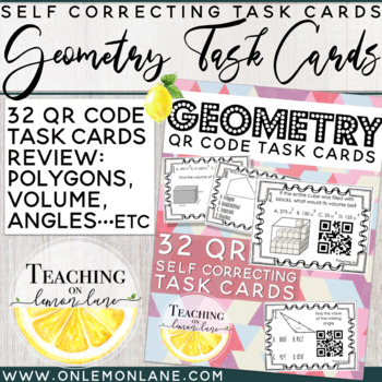 Geometry Task Card w/ QR Code / Volume Composite Figures /