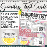 Geometry Task Card w/ QR Code / Volume Composite Figures / Polygons / Prisms /