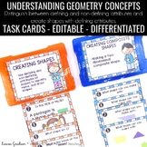 Geometry Task Cards -1.G.A.1 and 1.G.A.2