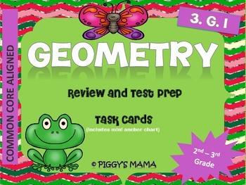 Geometry Task Cards (Math- 2nd - 3rd Grade)
