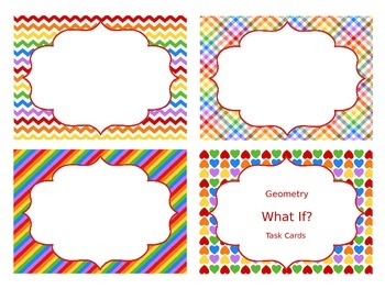 Geometry Higher-Order Thinking Task Cards!