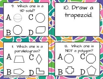 Geometry Task Cards- 2D & 3D