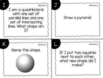 Geometry Task Cards {2D & 3D Shapes}