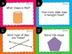 Geometry Task Cards 2D & 3D Shapes {Paper + Digital}