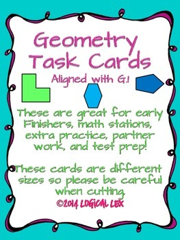 Geometry Task Cards 3.G.1