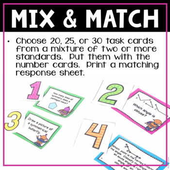 Geometry Task Cards for 4th Grade