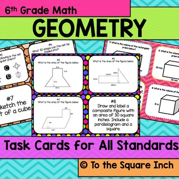 Geometry Task Cards- 6th Grade Math