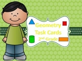 Geometry Task Cards: Angles, 2D, and 3D Shapes-2nd Grade