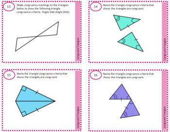 Geometry Task Cards Bundle Printables