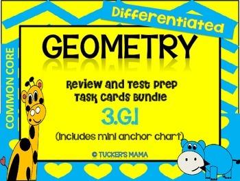 Geometry Task Cards Bundle