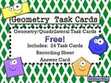 Geometry Task Cards FREE