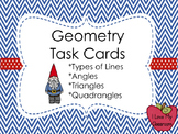 Geometry Task Cards - Lines, Angles, Triangles, Quadrangles, Polygons (Gnome)