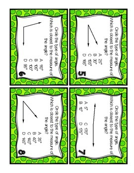 Geometry Task Cards: Lines, Line Segments, Rays and Angles