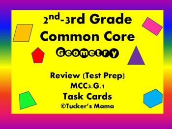 Geometry Task Cards Math 2nd-3rd Grade