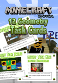 Geometry Task Cards - Minecraft Theme - NZ level 2 AGES 7 to 10 NO PREP