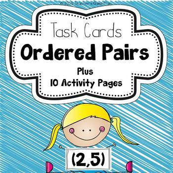Geometry Task Cards - Ordered Pairs