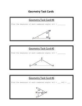 Geometry Task Cards Part 1