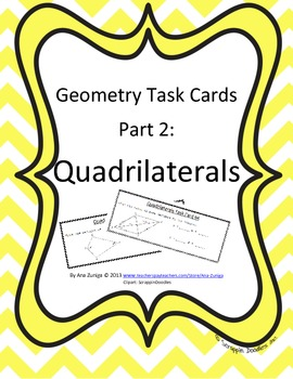 Geometry Task Cards Part 2: Quadrilaterals