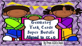 Geometry Task Cards Super Bundle