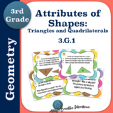 Geometry Task Cards: Triangle and Quadrilateral Attributes