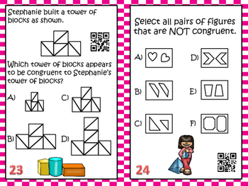 Geometry Task Cards with QR Codes