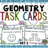 Geometry Task Cards & Game