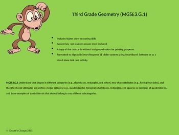 Geometry Task Cards with higher order thinking skills
