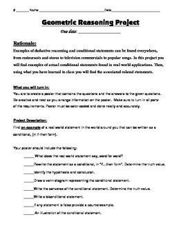 Geometry Task (Project): Geometric Reasoning Poster