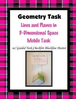 Geometry Task (Project): Lines and Planes in 3-D Space (1) Mobile