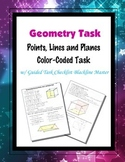 Geometry [Task] - Points, Lines and Planes Color-Coded Task
