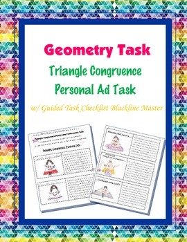 Geometry Task (Project): Triangle Congruence Personal Ad and Writing Assignment