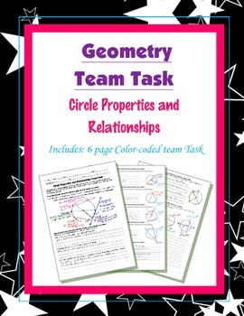 Geometry {Team Task} ~ Circle Properties and Relationships