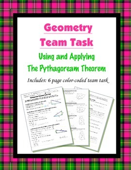 Geometry {Team Task} ~ The Pythagorean Theorem