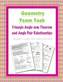 Geometry {Team Task} ~ Triangle Angle-sum and Angle Pair Relationships