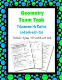 Geometry {Team Task} ~ Trigonometric Ratios and soh-cah-toa