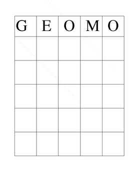 Geometry Term Review Game GEOMO