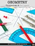 Geometry Terminology & Print Copywork