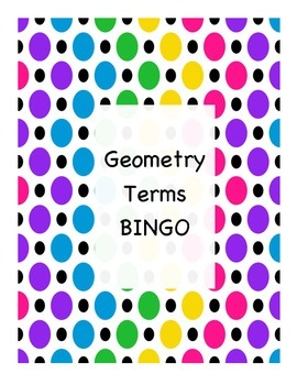 Geometry Vocabulary Game - BINGO